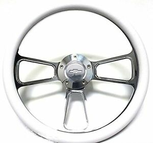 1967 1968 Chevy Chevelle 14 Billet White Muscle Wheel Chevy Horn