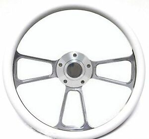New World Motoring Yamaha Golf Cart 14 Billet White Steering Wheel Include