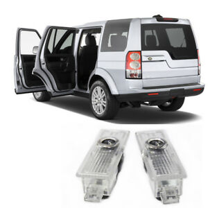2x Led Door Step Courtesy Laser Projector Shadow Light Lamp Logo For Land Rover