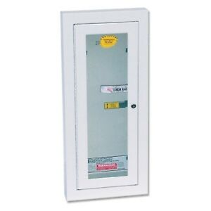 Kidde 468047 Potter Roemer Semi recessed 10 pound Fire Extinguisher Cabinet W