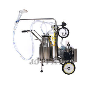 Electric Goat Milking Machine Sheep Vacuum Pump One Bucket 50 Kpa 0 75 Kw