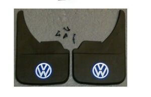 Vw Volkswagen Blue Logo Universal Car Mudflaps Front Rear Fox Golf Jetta Guard