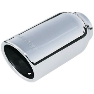 Polished Stainless Weld on 3 Exhaust Tips Rolled Angle Fits 2 Flowmaster 15360