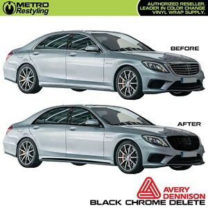 Avery Supreme Black Vinyl For Chrome Delete Car Vehicle Decal Film Sticker Wrap