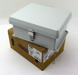 Hoffman Enclosures Hj1008hwpl1lg Enclosure Fiberglass Gray Free Shipping