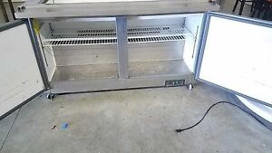 Arctic Air Double Door Mega top Sandwich Salad Prep Table 15 Cu Ft Stainless
