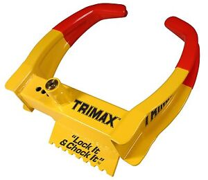 Tcl65 Trimax Trailer Auto Security Wheel Chock Lock Security Universal
