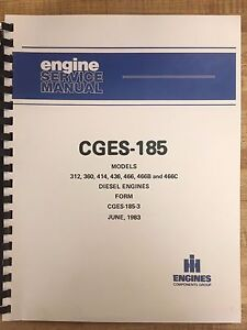 International 175c Loader Engine Service Manual Dt466b