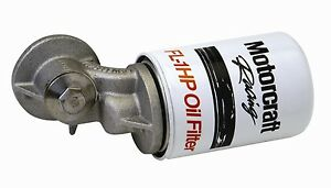 m 6880 a50 Ford Motorsports Oil Filter Adaptor 90 Degree
