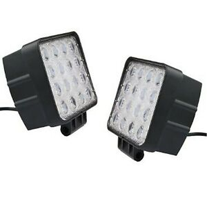 48w Led Work Light Square Flood Spot Work At Off Road Suv Boat 4x4 Light Bar