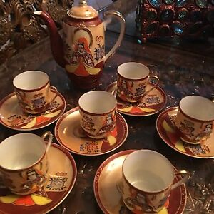 Antque Oriental Tea Set