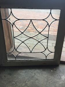 Sg 1479 Antique Leaded And Beveled Glass Window 22 5 X 23