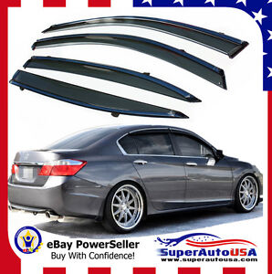Fit Honda Accord 2013 2017 Oe Style Window Vent Visors Sun Rain Wind Deflectors