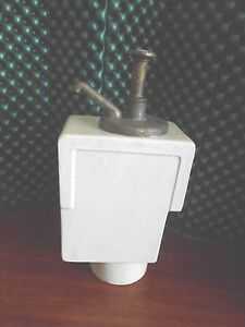 Vintage Russ Soda Fountain Pump And 2 5qt Porcelain Server Works