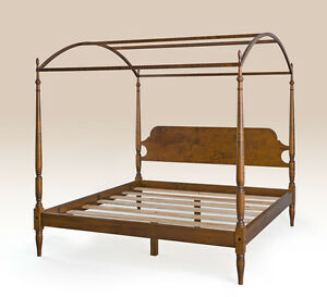 Tiger Maple Wood Full Size Antique Style Bed Frame New Quality Bedroom Furniture