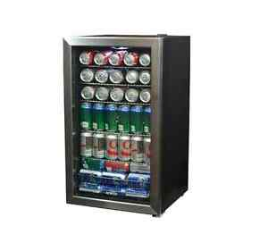 Newair 19 In 126 12 Oz Can Beverage Cooler Center Refrigerator Stainless Steel