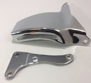 Chrome Sbc Alternator Bracket Oe Style With Long Water Pump 283 305 327 350