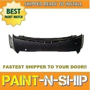 New 2008 2009 2010 Cadillac Cts Rear Bumper W snsr Holes Painted gm1100814