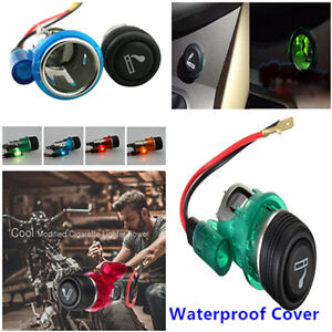 12v Waterproof 4 Color Car Motorcycle Cigarette Lighter Power Socket Plug Outlet