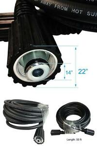 High Pressure Washer Hose 1 4 I d X 50 3000 Psi 22mm Fitting Both Ends Female