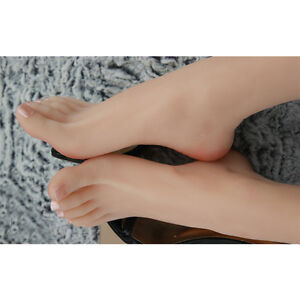 Silicone Realistic Lifelike Feet Female Simulation Sock Displays Mannequin Foot