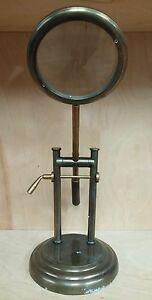 Interlude Home Brass Desktop Telescopic Magnifying Glass 19 1 2 High 6 Wide