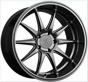 Xxr 527d 18x9 5x114 3 20 Chromium Black Brand New Set Of 4 Wheels Rims