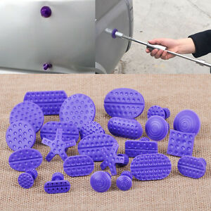 24xpurple Pdr Glue Puller Tabs For Auto Car Body Hail Paintless Dent Repair Tool