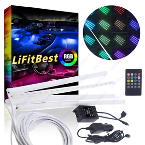 4x 18led Strips Remote Control Rgb Interior Floor Atmosphere Light For Nissan