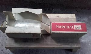 Marchal 650 Clear Fog Light Lens Cover Glass Vintage Rare Nos