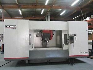 Cincinnati V5 2000 5 axis Cnc Vertical Machining Center With Tilt Swivel Spindle