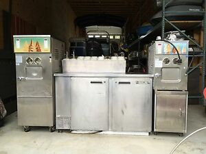Soft Serve Ice Cream Station 2 Coldelite 2 Flavor Dispen 2 Door Ref prep Bar