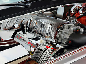 Challenger Charger Magnum 300 Srt 8 Fuel Rail Covers Polished Perforated Srt 8