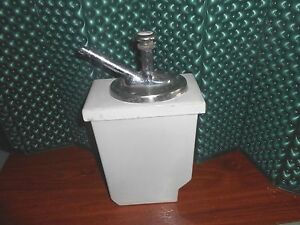 Vintage Russ Soda Fountain Pump And 2 5qt Porcelain Server Orange