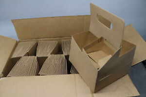 200x Lot 4 Cup Drink Coffee Handle Carrier Holder Kraft Paper Thick Cardboard