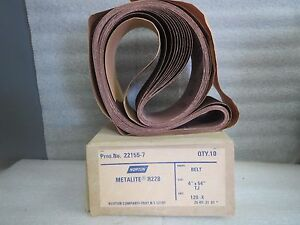Norton Metalite Sanding Belts 22155 7 4 By 54 120 Grit box Of 10