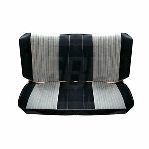 85 86 87 Gnx Grand National Black Silver Seat Upholstery Covers Rear Only