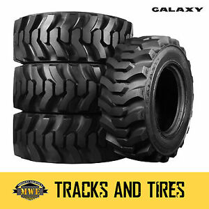12 16 5 12x16 5 Galaxy Muddy Buddy 10 ply Skid Steer Tires Pick Your Rim Colo