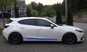 Racing Graphic Stripe Car Side Vinyl Decal Sticker For Mazda 3 2010 2018