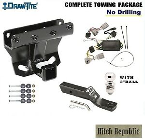 Class 3 Trailer Hitch Package W 2 Ball For 05 06 Jeep Grand Cherokee 75338