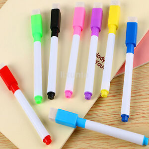 5pcs Magnetic Whiteboard Markers White Board Dry erase Colored Marker Mark Pens
