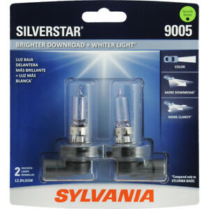 Headlight Bulb silverstar Blister Pack Twin Sylvania 9005st bp2