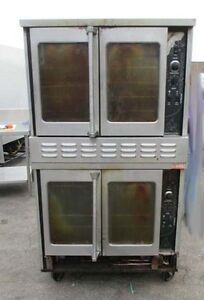 American Range Double Stack Gas Convection Oven Majestic