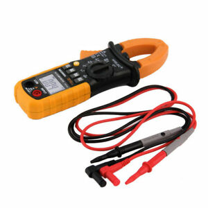 Digital Clamp Meter Dc Ac Volt Ac Amp Ohm Tester Ms2008a 2000 Counts Lcd Wr