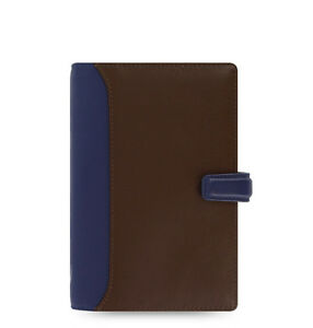 Filofax Personal Size Nappa Organiser Planner Chocolate blue Leather 025135 Gift