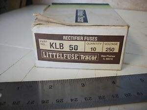 Littelfuse Klb 50 Rectifier Fuse 250v 50amp Box Of 10