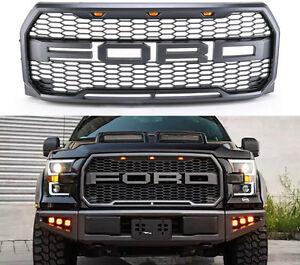 2015 2017 F 150 Raptor Style Grille Amber Led Conversion Oem Sport 3 For Ford