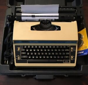 Brother Electronic Typewriter L10 Plus3 W Case Extra Ribbon Manual Works