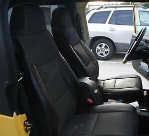 Jeep Wrangler 2003 2006 Black Iggee S Leather Custom Made Fit Seat Cover
