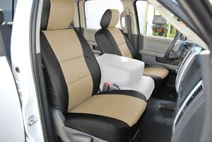 Dodge Ram 1500 2500 3500 2009 2018 Iggee S leather Custom Fit Front Seat Cover